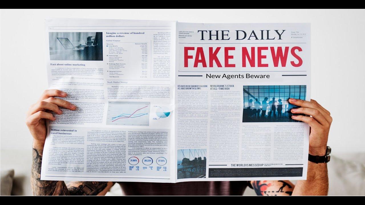Agent Fake sap 106: be careful of fake news in insurance sales - senior